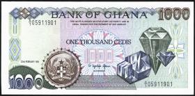 Ghana P.29a 1000 Cedis 1991 (1)