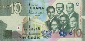 Ghana P.39b 10 Cedis 2010 (1)