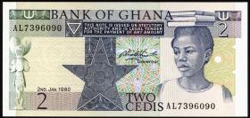 Ghana P.18b 2 Cedis 1980 (1)