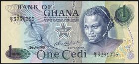 Ghana P.13d 1 Cedi 1978 (1)