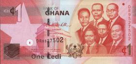 Ghana P.37b 1 Cedi 2010 (1)
