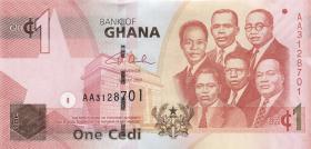 Ghana P.37a 1 Cedi 2007 (1)
