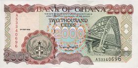 Ghana P.33c 2000 Cedis 1998 (1)