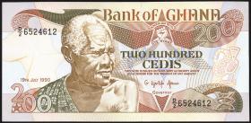 Ghana P.27b 200 Cedis 1990-93 (1)