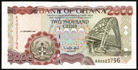 Ghana P.33a 2000 Cedis 1996 (1)