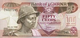 Ghana P.25 50 Cedis 1986 (1)