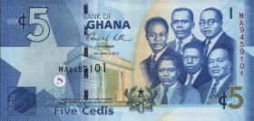 Ghana P.38b 5 Cedis 2010 (1)