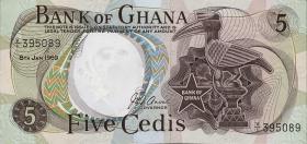Ghana P.11b 5 Cedis 1969 (1)