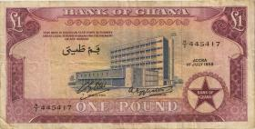 Ghana P.02a 1 Pound 1958 (3)