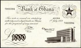 Ghana P.04 1000 Pounds 1958 (1/1-)
