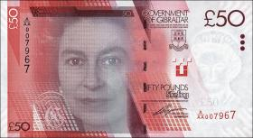Gibraltar P.38 50 Pounds 2010 (1)