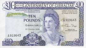 Gibraltar P.22b 10 Pounds 1986 (1)