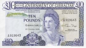 Gibraltar P.22b 10 Pounds 1986 (1)