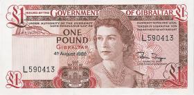 Gibraltar P.20e 1 Pound 1988 (1)