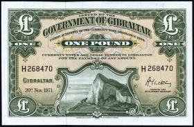 Gibraltar P.18b 1 Pound 1971 (1)