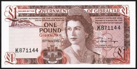 Gibraltar P.20c 1 Pound 1983 (1)
