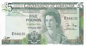 Gibraltar P.21b 5 Pounds 1988 (1)