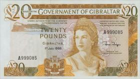 Gibraltar P.23c 20 Pounds 1986 (1)