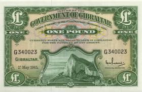 Gibraltar P.18a 1 Pound 1965 (1)