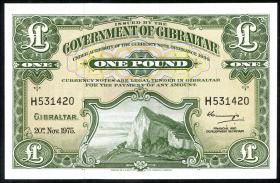 Gibraltar P.18c 1 Pound 1975 (1)