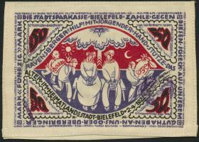 Notgeld Bielefeld GP.19 50 Mark 1922 Seide (1)