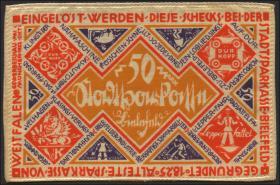 Bielefeld GP.20b 50 Mark 1922 Seide (1)