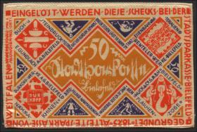Bielefeld GP.20d 50 Mark 1922 Seide (1)