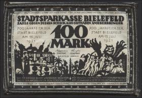 Bielefeld GP.21ae 100 Mark 1921 Leinen (2)