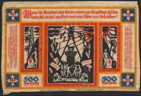 Bielefeld GP.23c 500 Mark 1922 Seide (1)