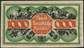 Notgeld Bielefeld GP.26b 1000 Mark 1922 Leinen (1)