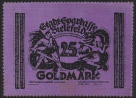 Bielefeld GP.59 25 Goldmark 1923 Samt (1)