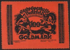 Bielefeld GP.61 100 Goldmark 1923 Samt (1-)