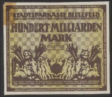 Bielefeld GP.41 100 Milliarden Mark 1923 Leinen (1-)