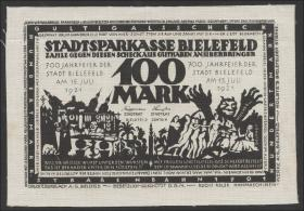 Bielefeld GP.21ab 1000 Mark 1921 Leinen (1)