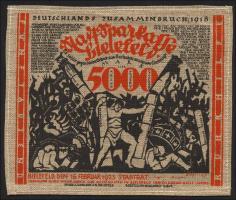 Bielefeld GP.28ab 5000 Mark 1923 Jute (1-)