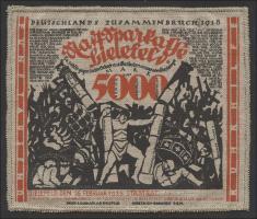 Bielefeld GP.28aa 5000 Mark 1923 Jute (1-)