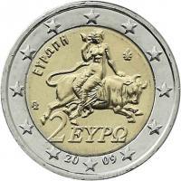 Griechenland 2 Euro 2009 Kursmünze