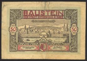Osterwieck GR.354 50 Mark 1922 Ledergeld Baustein (3)