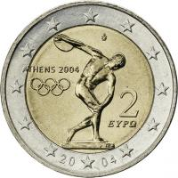 Griechenland 2 Euro 2004 Oly. Athen