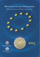Griechenland 2 Euro 2015 30 Jahre EU-Flagge in Coincard