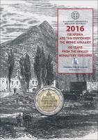 Griechenland 2 Euro 2016 Kloster Arkadi in Coincard