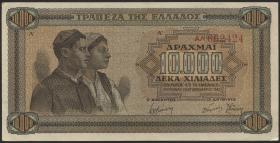 Griechenland / Greece P.120b 10000 Drachmen 1942 (1-)