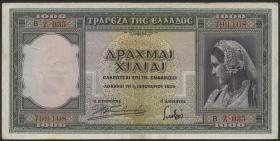 Griechenland / Greece P.110 1000 Drachmen 1939 (3)