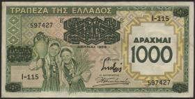Griechenland / Greece P.111 1000 Drachmen 1939 (2)