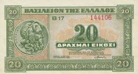 Griechenland / Greece P.315 20 Drachmen 1940 (1)