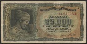 Griechenland / Greece P.123a 25000 Drachmen 1943 (1/1-)