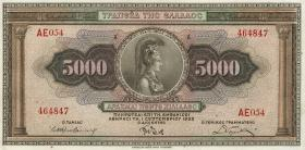 Griechenland / Greece P.103 5000 Drachmen 1932 (1)