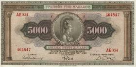 Griechenland / Greece P.103 5000 Drachmen 1932 (1)