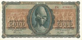 Griechenland / Greece P.122 5000 Drachmen 1943 (1)
