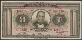 Griechenland / Greece P.097 50 Drachmen 1928 (1927) (1/1-)